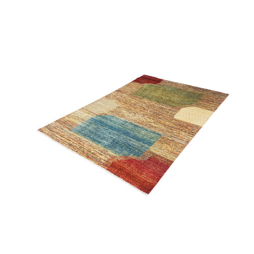 Hand knotted 9'6x6'5 Modern  Art Deco Wool Rug 295x200 cm  Abstract Carpet