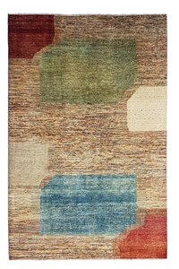 Hand knotted 9'6x6'5 Modern  Art Deco Wool Rug 295x200 cm  Abstract Carpet  design18