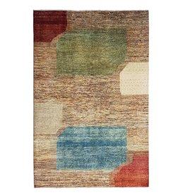 ZARGAR RUGS Handgeknüpft Modern Art Deco 295x200 cm Abstrakt Wolle Teppich  design18