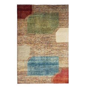 Handgeknüpft Modern Art Deco 295x200 cm Abstrakt Wolle Teppich  design18