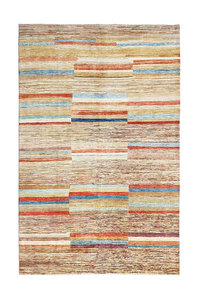Hand knotted 9'7x6'5 Modern  Art Deco Wool Rug 297x199 cm  Abstract Carpet