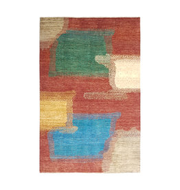 ZARGAR RUGS Hand knotted 9'6x6' Modern  Art Deco Wool Rug 294x197 cm  Abstract Carpet  design18