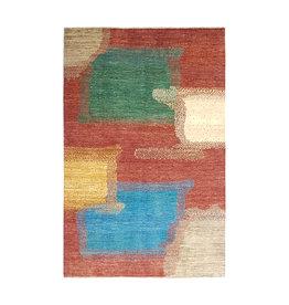 ZARGAR RUGS Handgeknüpft Modern Art Deco 294x197 cm Abstrakt Wolle Teppich  design18