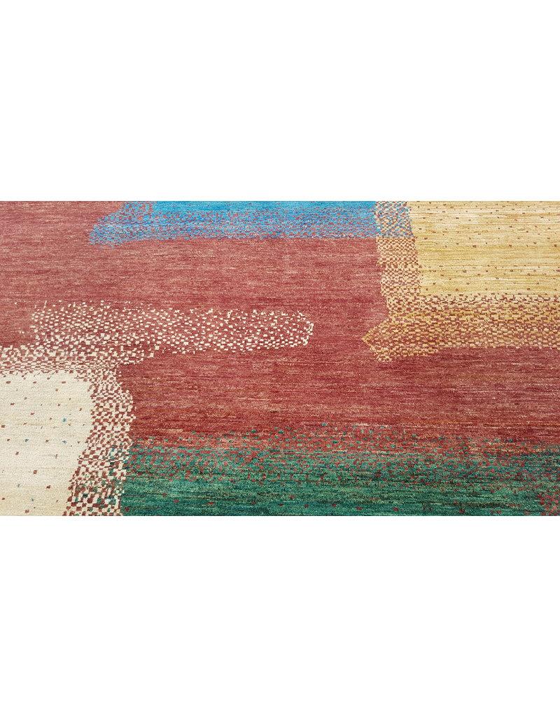 ZARGAR RUGS Handgeknüpft Modern Art Deco 294x197 cm Abstrakt Wolle Teppich