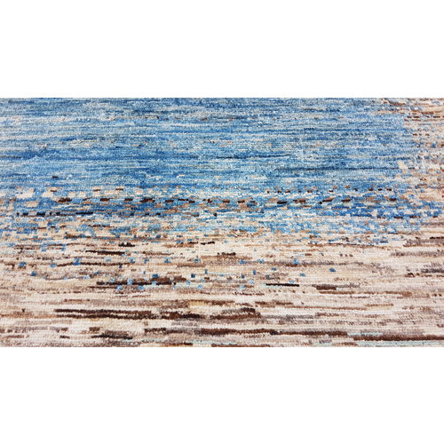 Hand knotted 9'x6' Modern  Art Deco Wool Rug 288x196 cm  Abstract Carpet