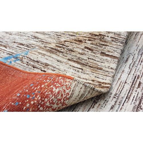 Handgeknoopt Modern Art Deco tapijt 288x196 cm  oosters kleed vloerkleed