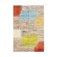 Hand knotted 9'x6' Modern  Art Deco Wool Rug 288x196 cm  Abstract Carpet   design18