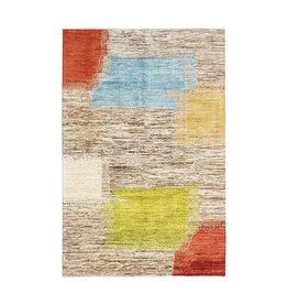 ZARGAR RUGS Handgeknüpft Modern Art Deco 288x196 cm Abstrakt Wolle Teppich  design18