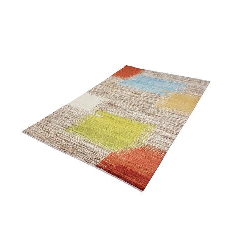 Handgeknüpft Modern Art Deco 288x196 cm Abstrakt Wolle Teppich