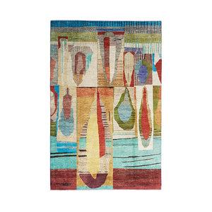 Handgeknüpft Modern Art Deco 304x201 cm Abstrakt Wolle Teppich  design79