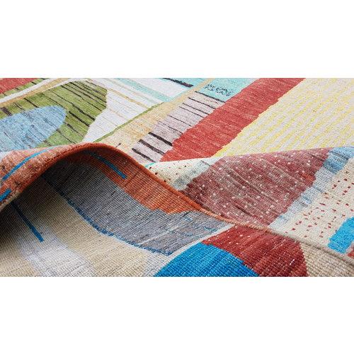 Handgeknoopt Modern Art Deco tapijt 304x201 cm  oosters kleed vloerkleed