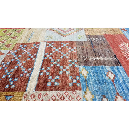 Handgeknoopt Modern Art Deco tapijt 293x199 cm  oosters kleed vloerkleed