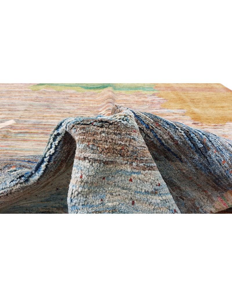 ZARGAR RUGS Handgeknüpft Modern Art Deco 296x196 cm Abstrakt Wolle Teppich