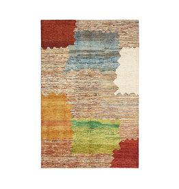 ZARGAR RUGS Handgeknüpft Modern Art Deco 296x196 cm Abstrakt Wolle Teppich  design18