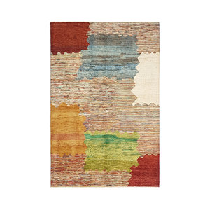 Hand knotted 9'7x6' Modern  Art Deco Wool Rug 296x196 cm  Abstract Carpet  design18