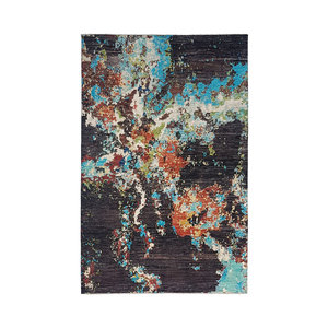 design Hand knotted 9'5x6'6 Modern  Art Deco Wool Rug Abstract Carpet