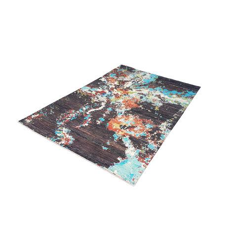 Handgeknüpft Modern Art Deco 291x202 cm Abstrakt Wolle Teppich    design 92 star