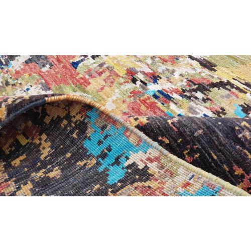 Handgeknoopt Modern Art Deco tapijt 298x202 cm  oosters kleed vloerkleed    design 92 star