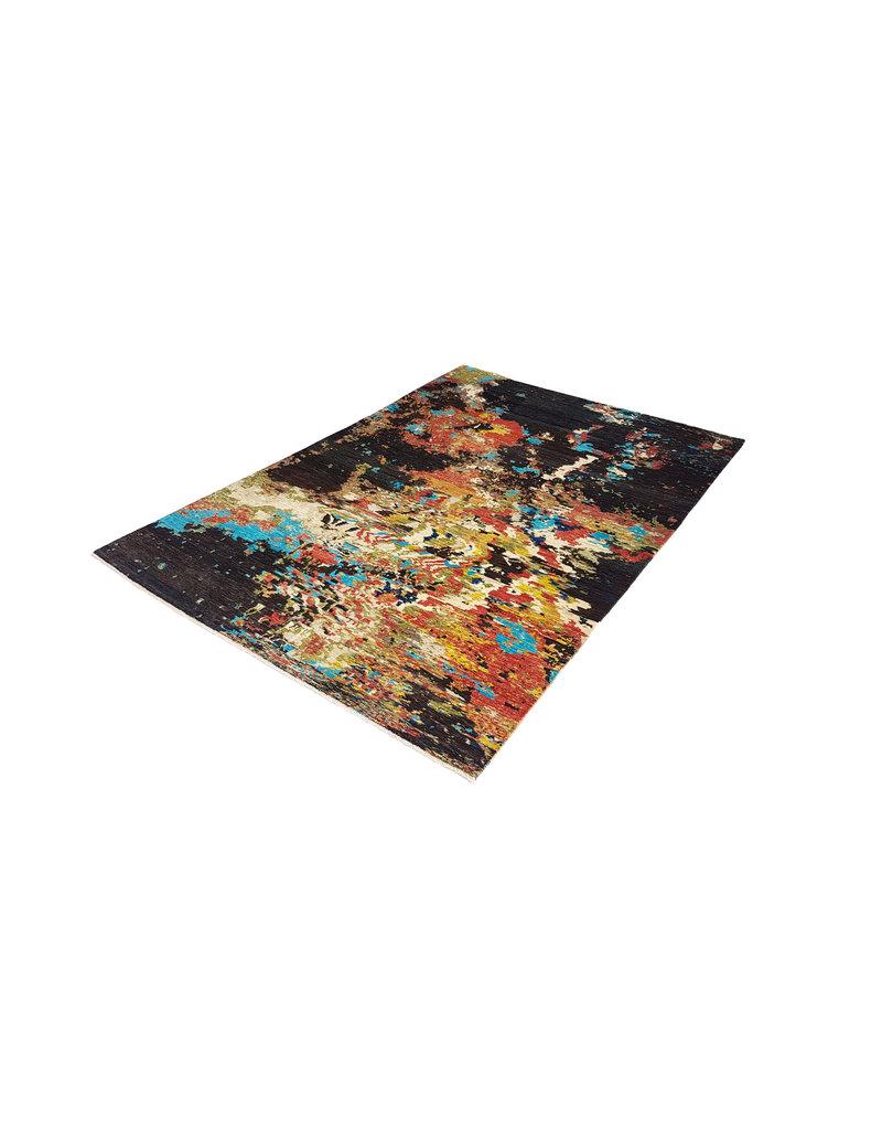 ZARGAR RUGS Handgeknüpft Modern Art Deco 298x202 cm Abstrakt Wolle Teppich    design 92 star