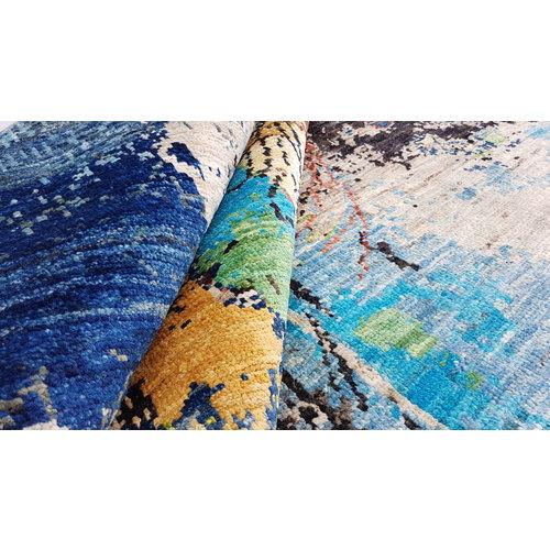 Handgeknoopt Modern Art Deco tapijt 297x195 cm  oosters kleed vloerkleed