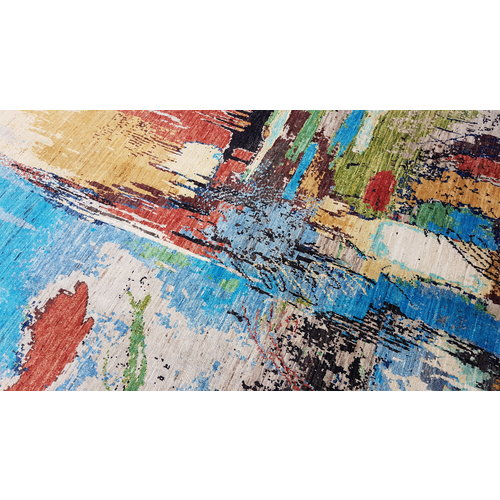 Handgeknüpft Modern Art Deco 297x195 cm Abstrakt Wolle Teppich