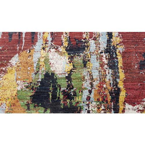 Handgeknüpft Modern Art Deco 293x200 cm Abstrakt Wolle Teppich