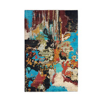 Hand knotted 9'6x6'5 Modern  Art Deco Wool Rug 295x200 cm  Abstract Carpet design135