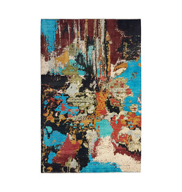 ZARGAR RUGS Hand knotted 9'6x6'5 Modern  Art Deco Wool Rug 295x200 cm  Abstract Carpet design135