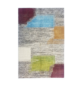 ZARGAR RUGS Handgeknüpft Modern Art Deco 297x198 cm Abstrakt Wolle Teppich desgin18