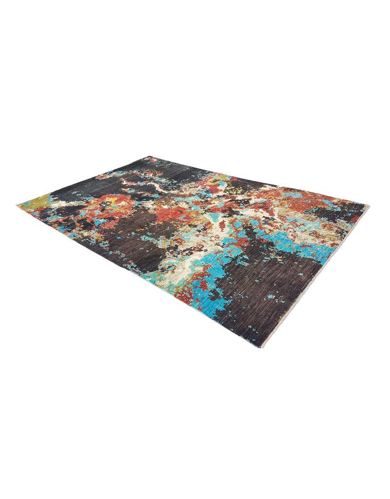 ZARGAR RUGS Handgeknüpft Modern Art Deco 306x201 cm Abstrakt Wolle Teppich   design 92 star