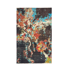 ZARGAR RUGS Hand knotted 10'x6'5 Modern  Art Deco Wool Rug 306x201 cm  Abstract Carpet
