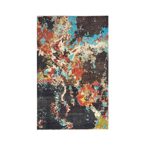 Handgeknoopt Modern Art Deco tapijt 306x201 cm  oosters kleed vloerkleed    design 92 star