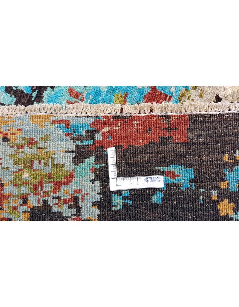 ZARGAR RUGS  Handgeknoopt Modern Art Deco tapijt 306x201 cm  oosters kleed vloerkleed    design 92 star