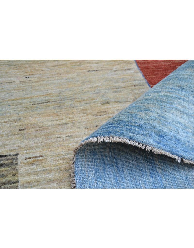 ZARGAR RUGS Handgeknüpft Modern Art Deco 293x199 cm Abstrakt Wolle Teppich