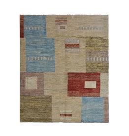 ZARGAR RUGS Handgeknüpft Modern Art Deco 293x199 cm Abstrakt Wolle Teppich  design70