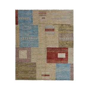 Handgeknüpft Modern Art Deco 293x199 cm Abstrakt Wolle Teppich  design70
