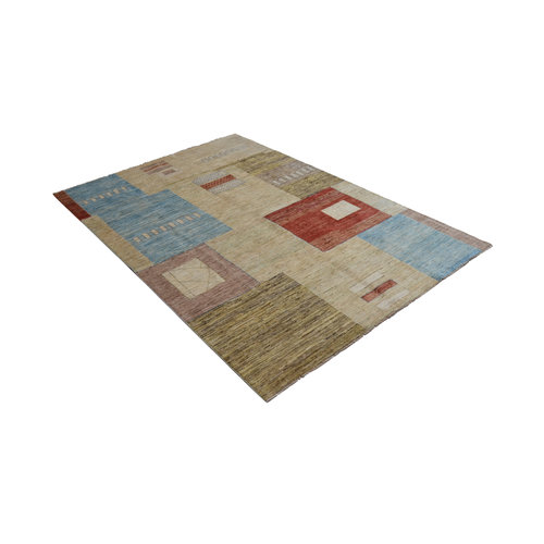 Hand knotted 9'6x6'5 Modern  Art Deco Wool Rug 293x199 cm  Abstract Carpet