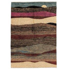 ZARGAR RUGS Hand knotted 9'7x6'4 Modern  Art Deco Wool Rug 296x198 cm  Abstract Carpet