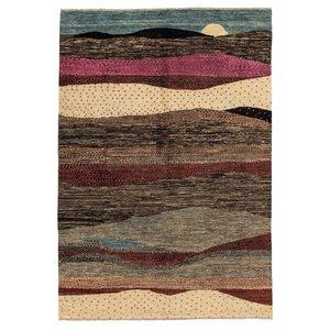 Handgeknoopt Modern Art Deco tapijt 296x198 cm  oosters kleed vloerkleed