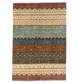 ZARGAR RUGS Hand knotted 9'9x6' Modern  Art Deco Wool Rug 303x195 cm  Abstract Carpet