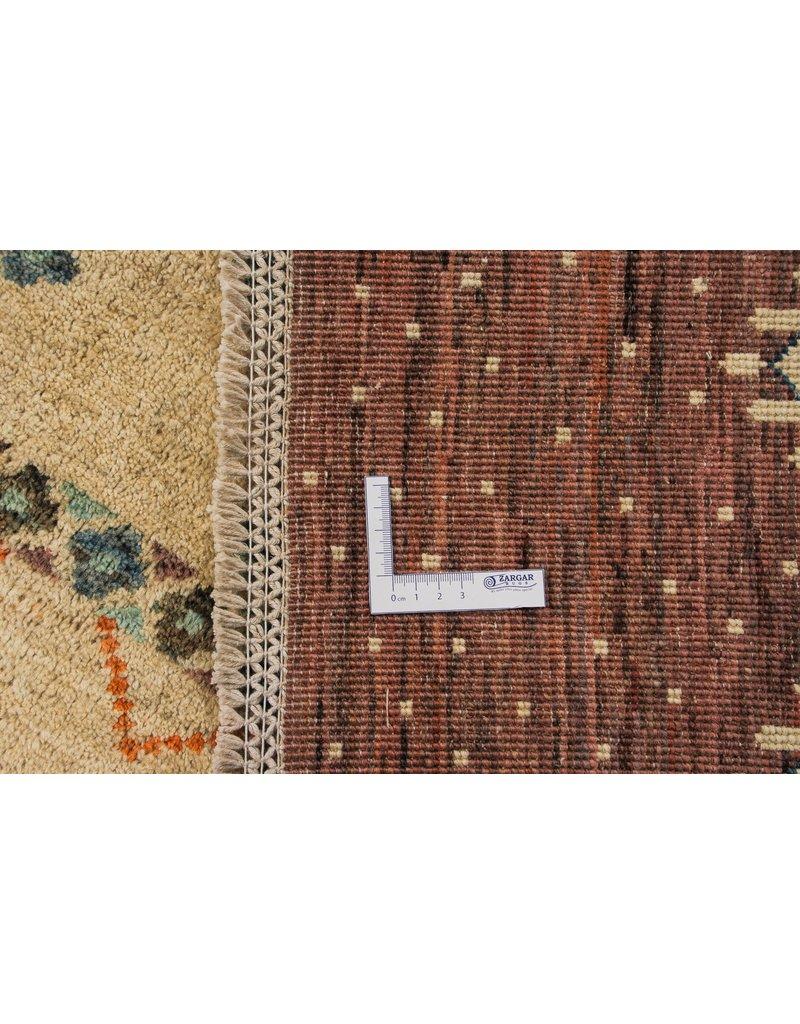 ZARGAR RUGS Handgeknüpft Modern Art Deco 303x195 cm Abstrakt Wolle Teppich