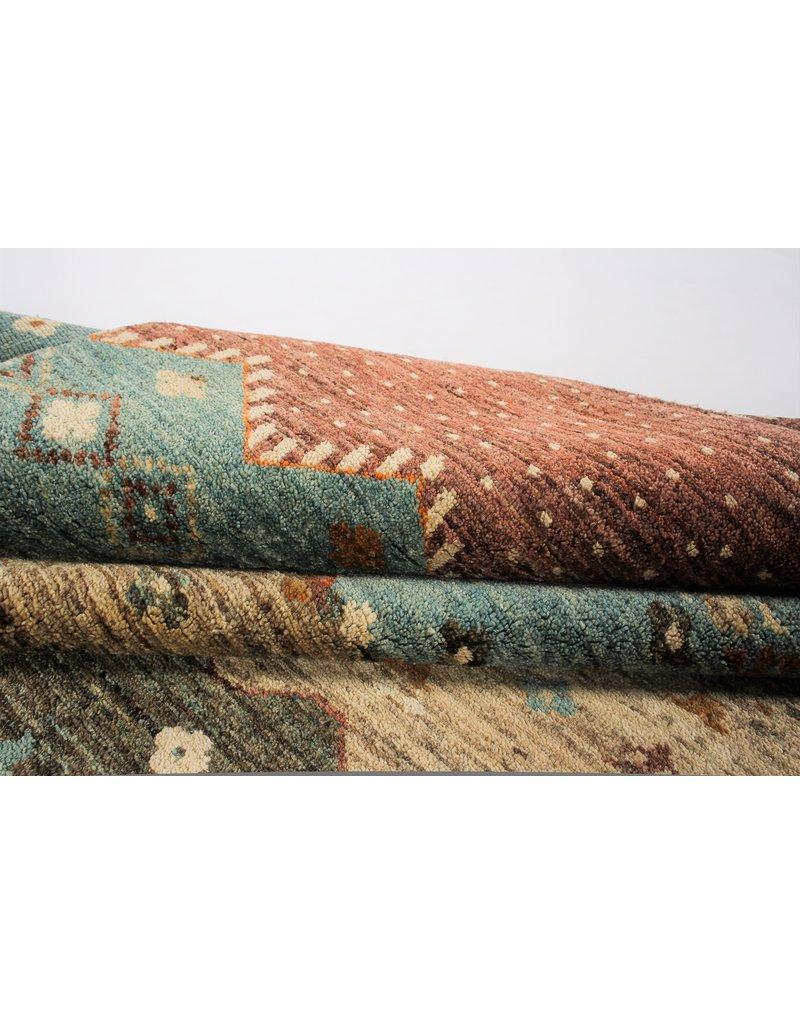ZARGAR RUGS Handgeknüpft Modern Art Deco 295x198 cm Abstrakt Wolle Teppich