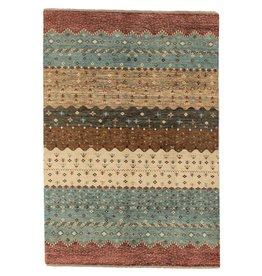 ZARGAR RUGS Hand knotted 9'6x6' Modern  Art Deco Wool Rug 295x198 cm  Abstract Carpet