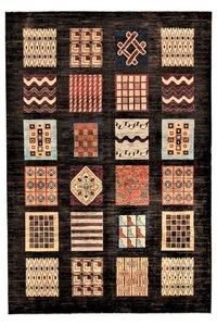Hand knotted 9'8x6'5 Modern  Art Deco Wool Rug Gabbeh Carpet