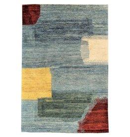 ZARGAR RUGS Hand knotted 9'5x6' Modern  Art Deco Wool Rug 292x195 cm  Abstract Carpet