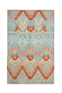 Hand knotted 9'6x6'5 Modern  Art Deco Wool Rug 294x200 cm  Abstract Carpet
