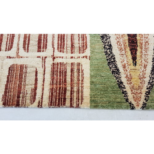 Hand knotted 9'9x6'6 Modern  Art Deco Wool Rug 303x203 cm  Abstract Carpet