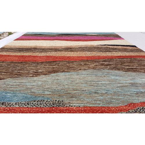 Handgeknüpft Modern Art Deco 298x202 cm Abstrakt Wolle Teppich