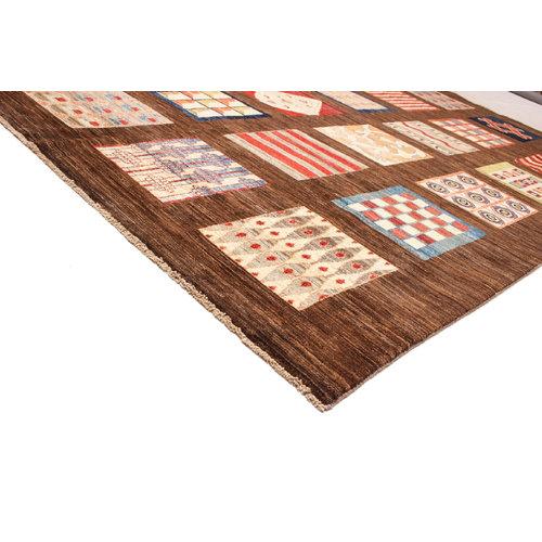 Handgeknoopt Modern Art Deco tapijt 297x203 cm  oosters kleed vloerkleed