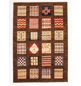 ZARGAR RUGS Hand knotted 9'7x6'6 Modern  Art Deco Wool Rug 297x203 cm  Abstract Carpet
